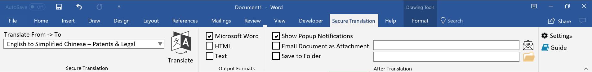 Microsoft Office Ribbon Bar